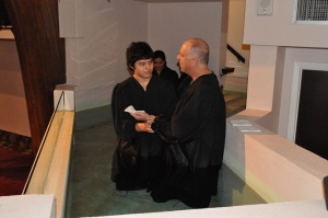 This is Julio being baptized!