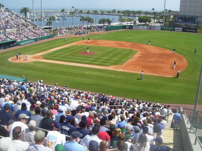 I am writing tonight from the beautiful Tampa Bay area. Al Lang Field is an old Spring training Park in St.Petersburg where Babe Dahlgren probably played.