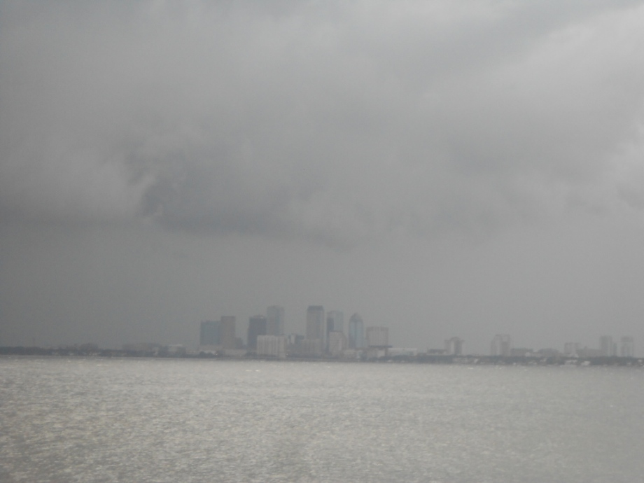 I am writing today from the dark and stormy Tampa Bay area.