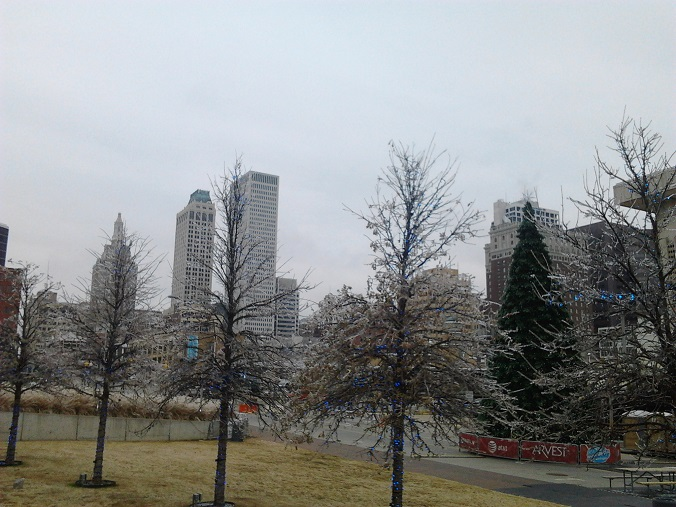 I am writing today from  cold and freezing, beautiful Tulsa.
