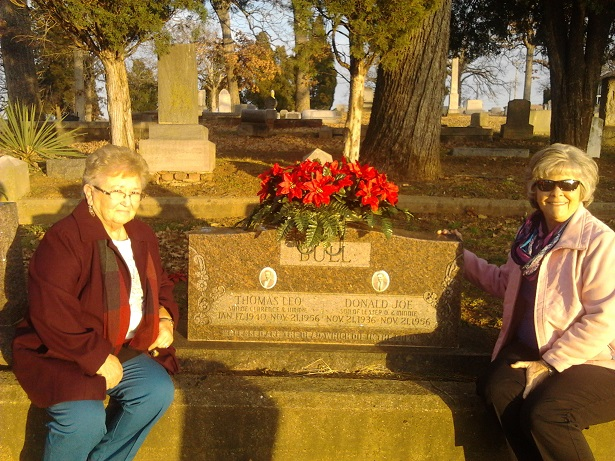 Cousin Jeannie on the left helped me find the grave and story that had haunted me for years. On the right is my cousin Eva who also helped put some of the pieces together for me.